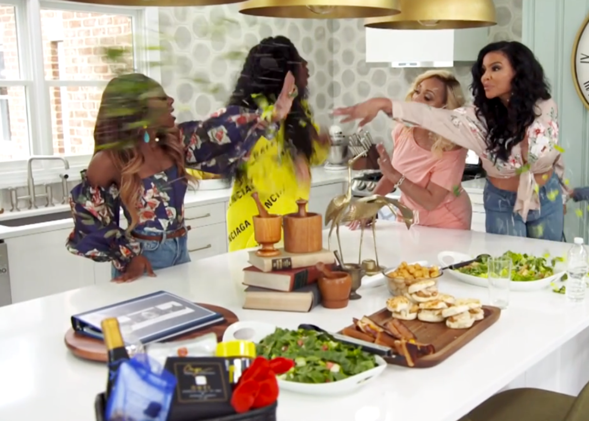 """RHOP Recap: Candiace Calls Mia's Mom """"Low Budget"""" During Heated Exchange as Mia Tosses Salad in Her Face"""
