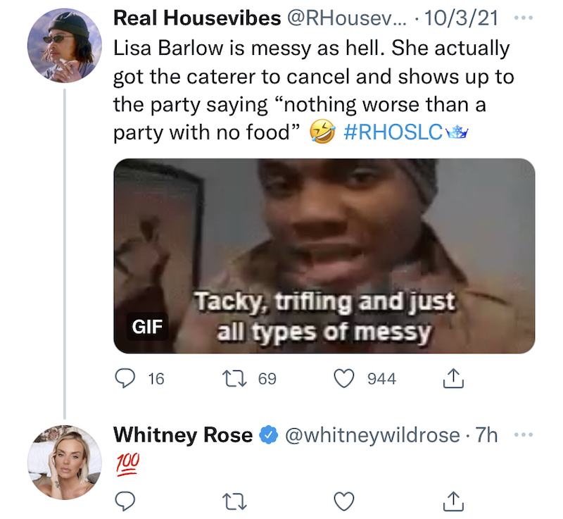 rhoslc whitney rose insists lisa barlow convinced caterer to cancel